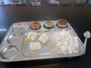 Essen mit Reis